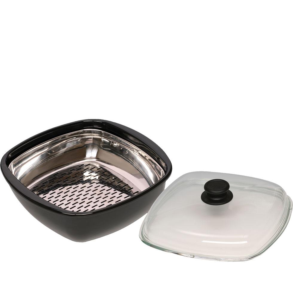Dampfgarer 3tlg mit Glasdeckel und Gareinsatz 0114-022-2
