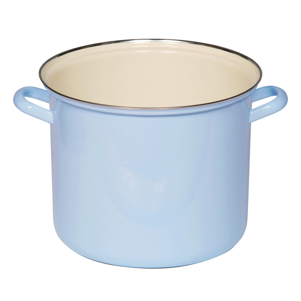 Pot with chrome rim 24 8.00 l
