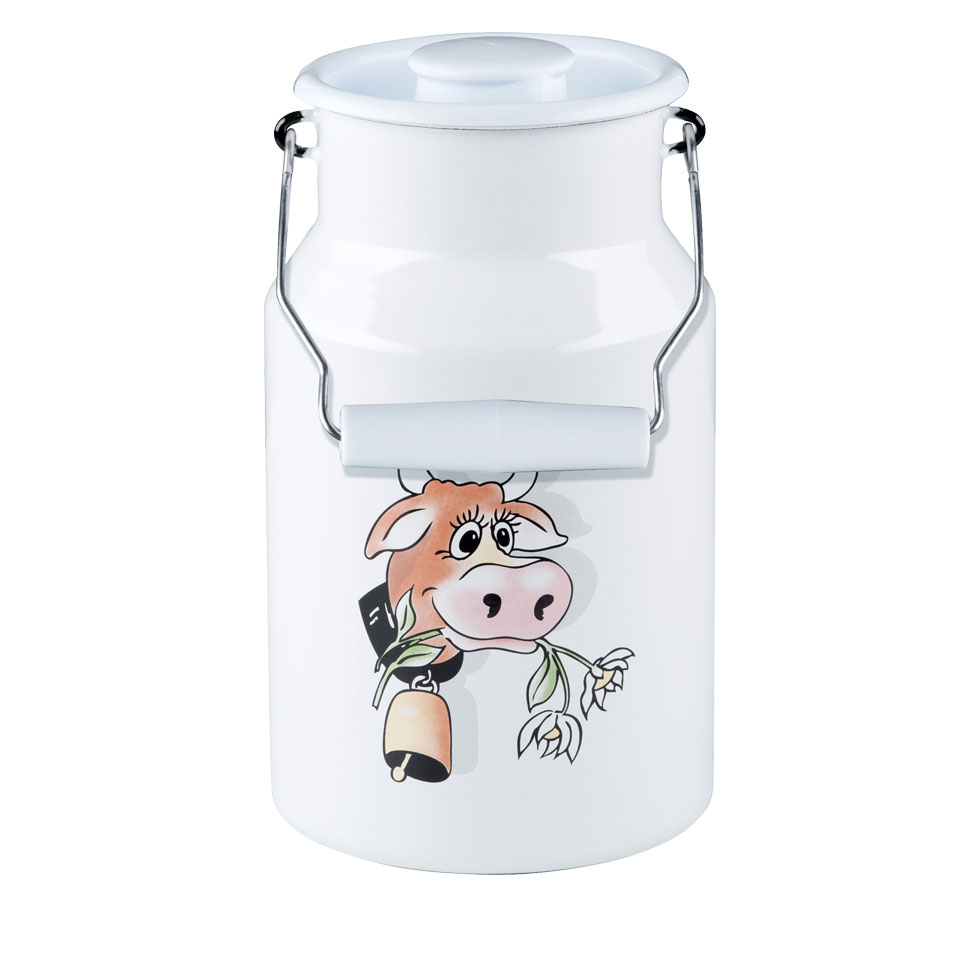 Milk can with lid 2.00 l