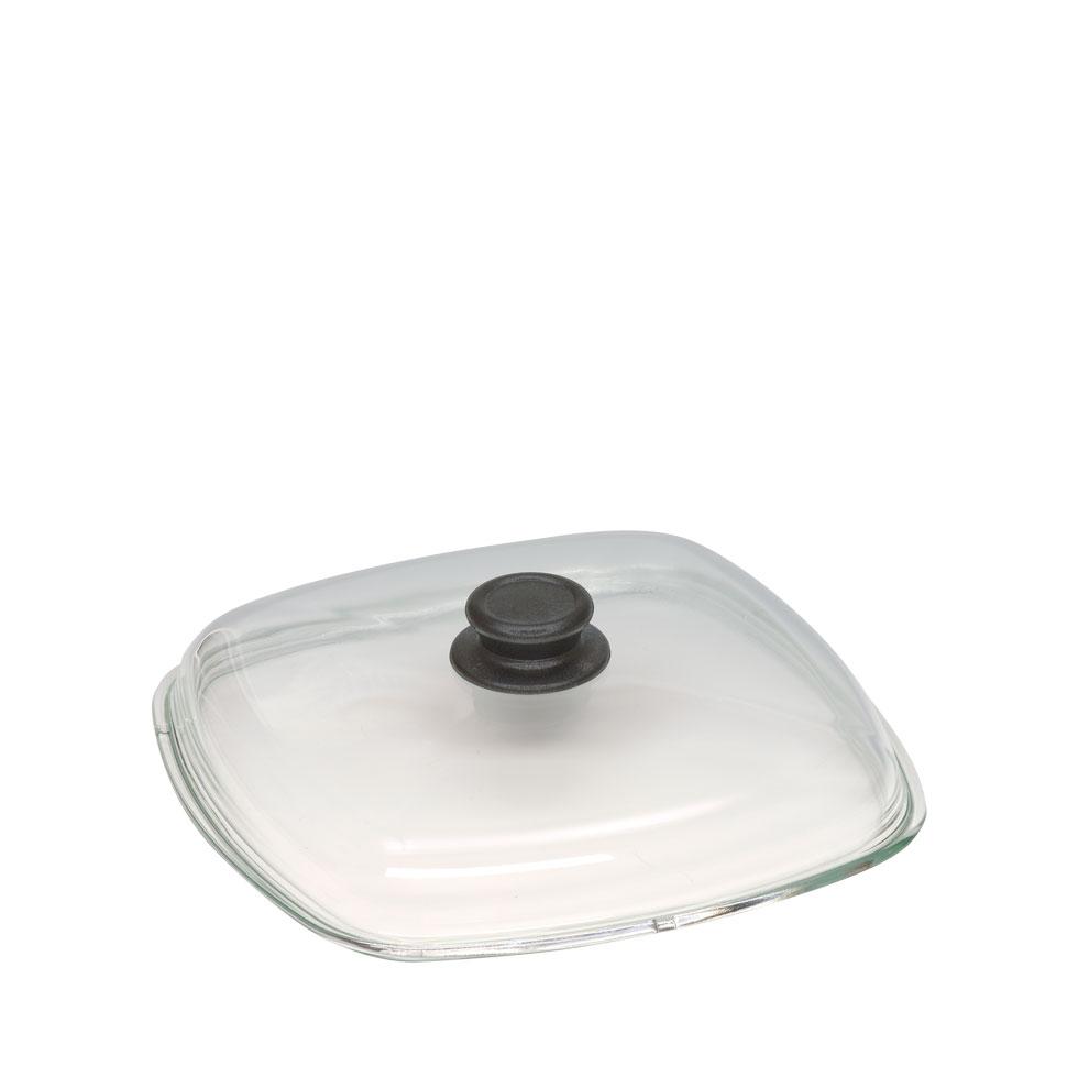 Glasdeckel hoch für eckige Pfanne 0699-108-2