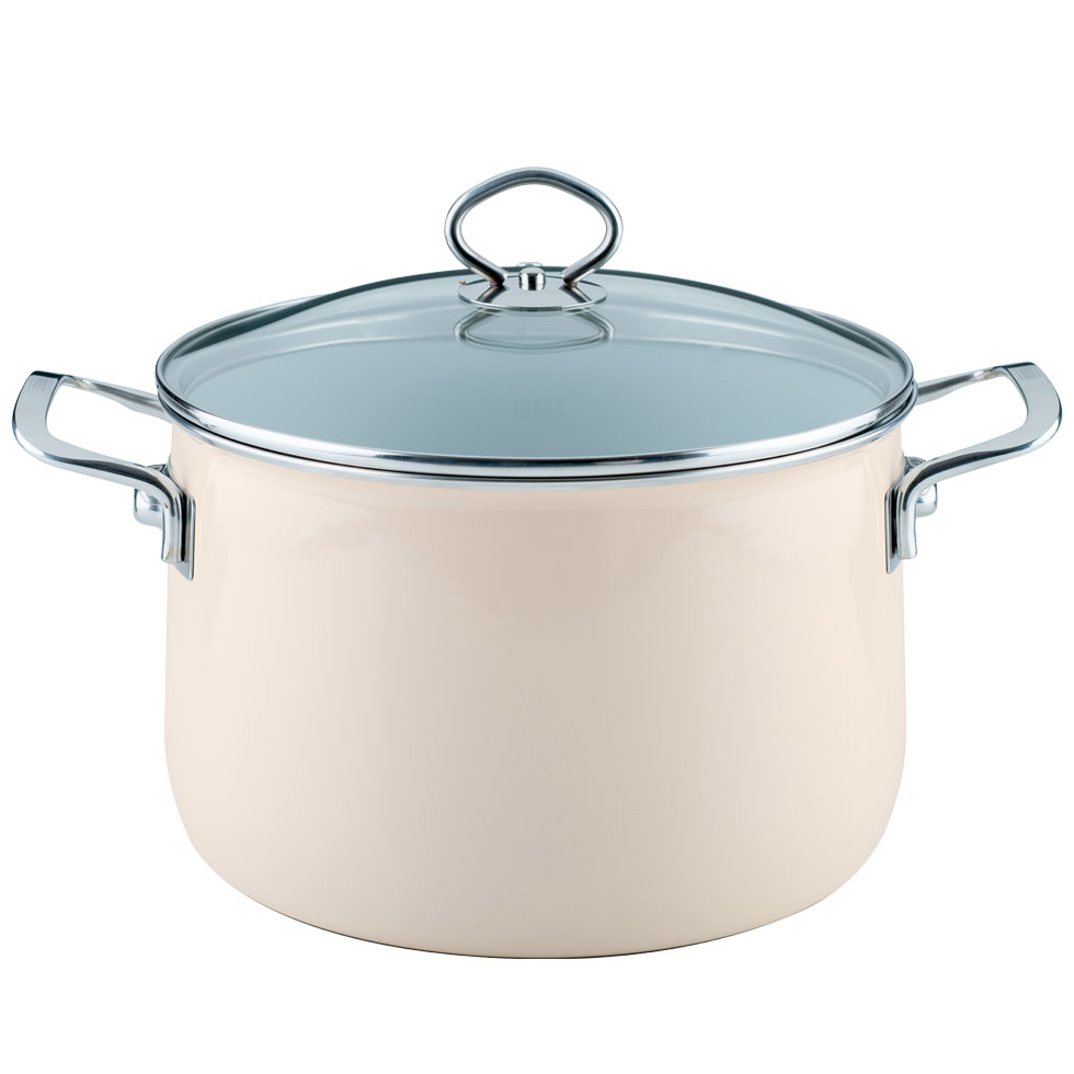Stewpot with glass lid 24  6.50 l