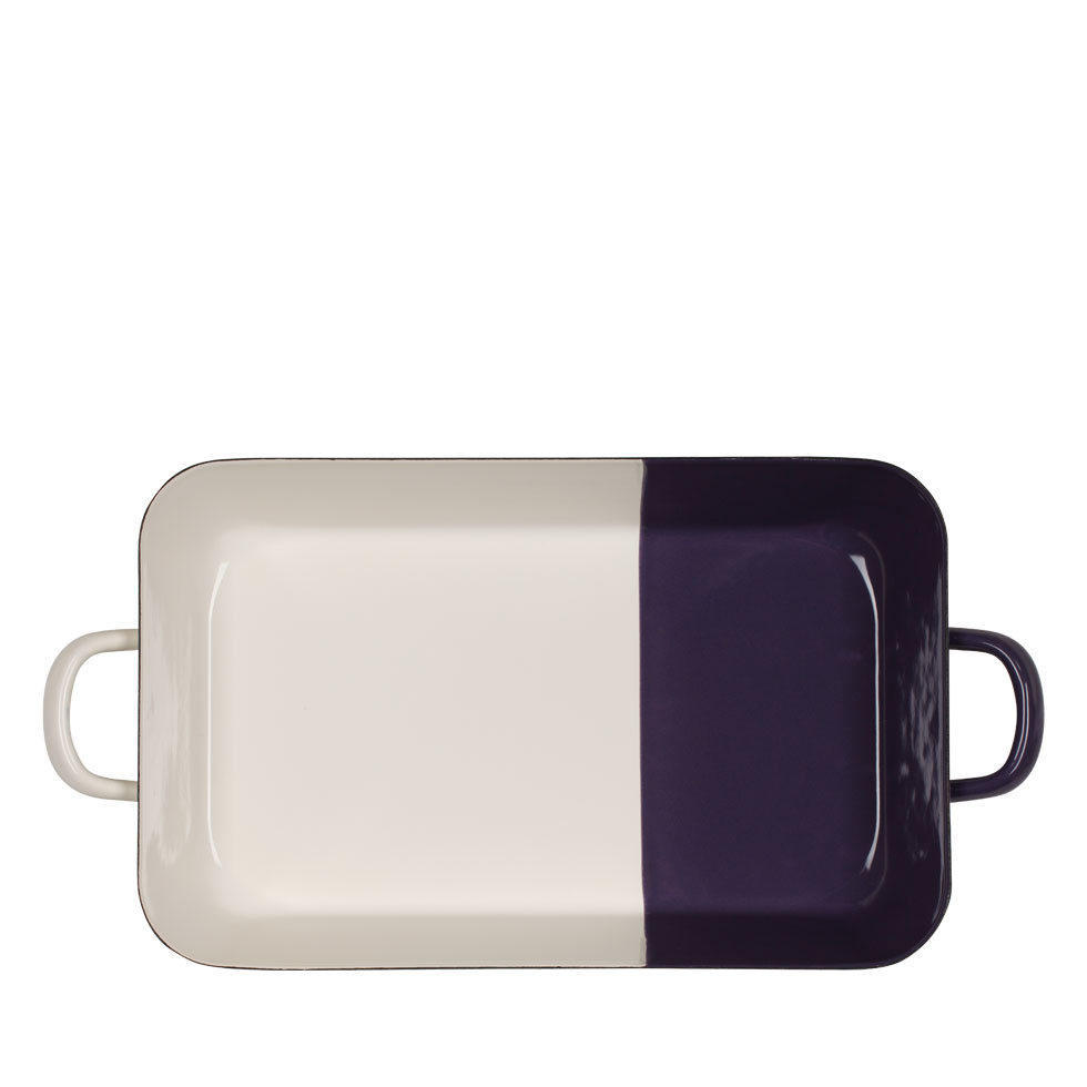 Baking and roasting pan Cream/Plum