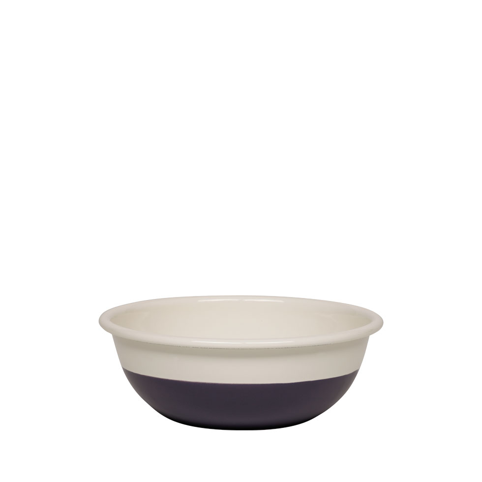 Bowl Ø18 Cream/Plum