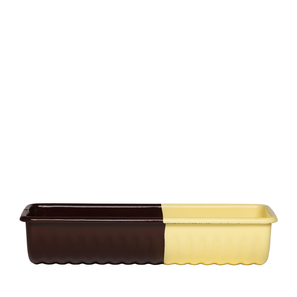 Ridged loaf pan Chocolate/Vanilla 0637-573-1