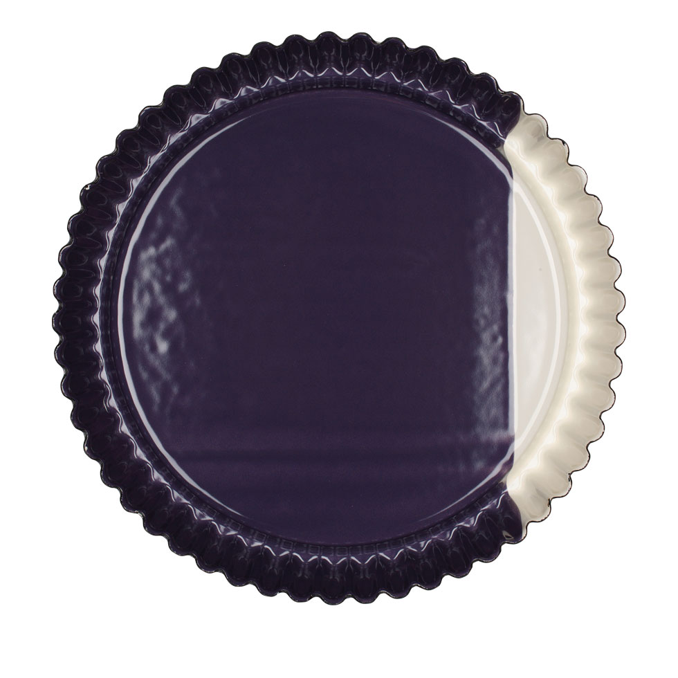 Fruit tart tin Ø30 Cream/Plum
