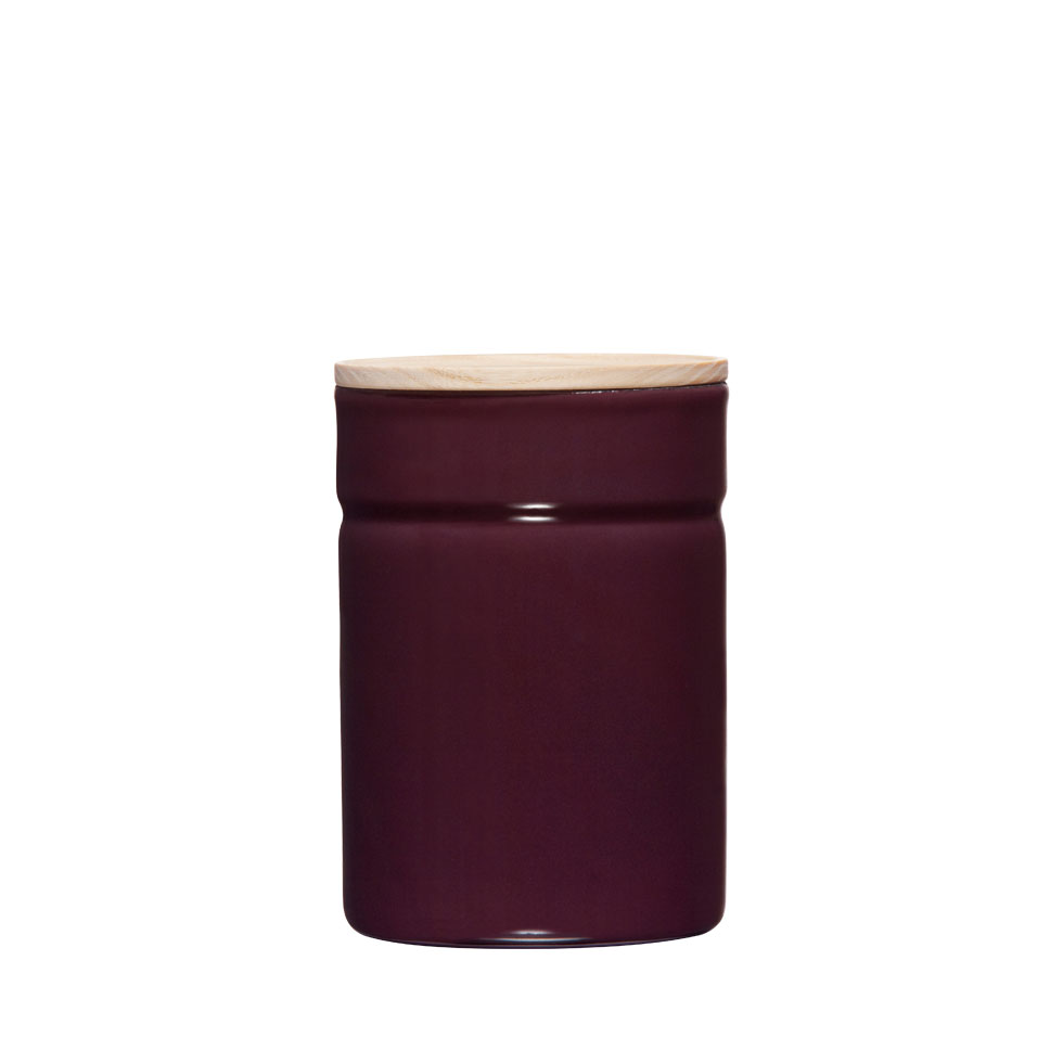 Dry food storage container Ø8 Dark Aubergine