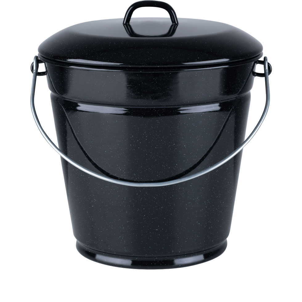 Enamel bucket with lid 28