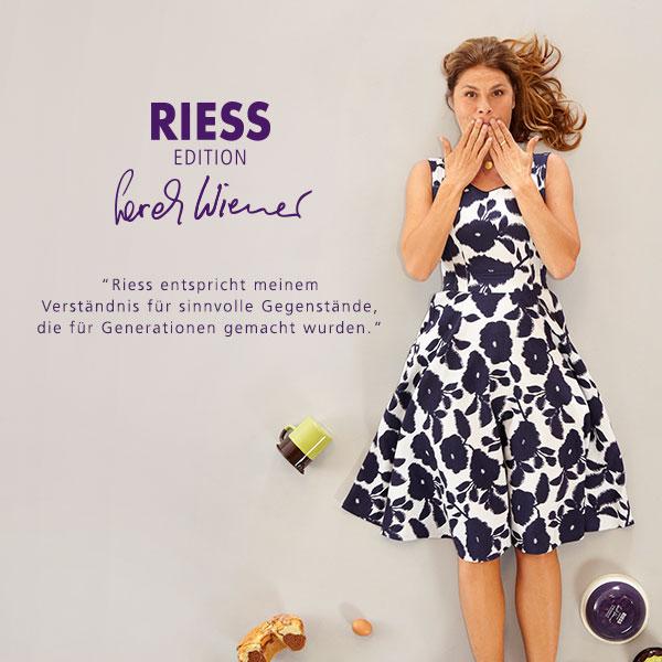Sarah Wiener: Riess entspricht meinem Verständnis für sinnvolle Gegenstände die für Generationen gemacht wurden
