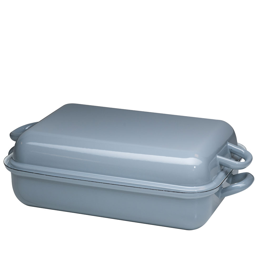 Roasting dish with lid 37/26 -Pure Grey