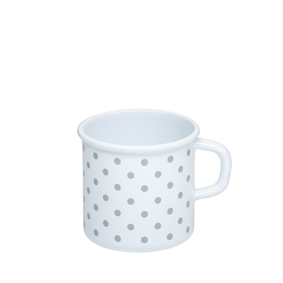 Mug with rolled rim 8 3/8 l Polka-dot grey