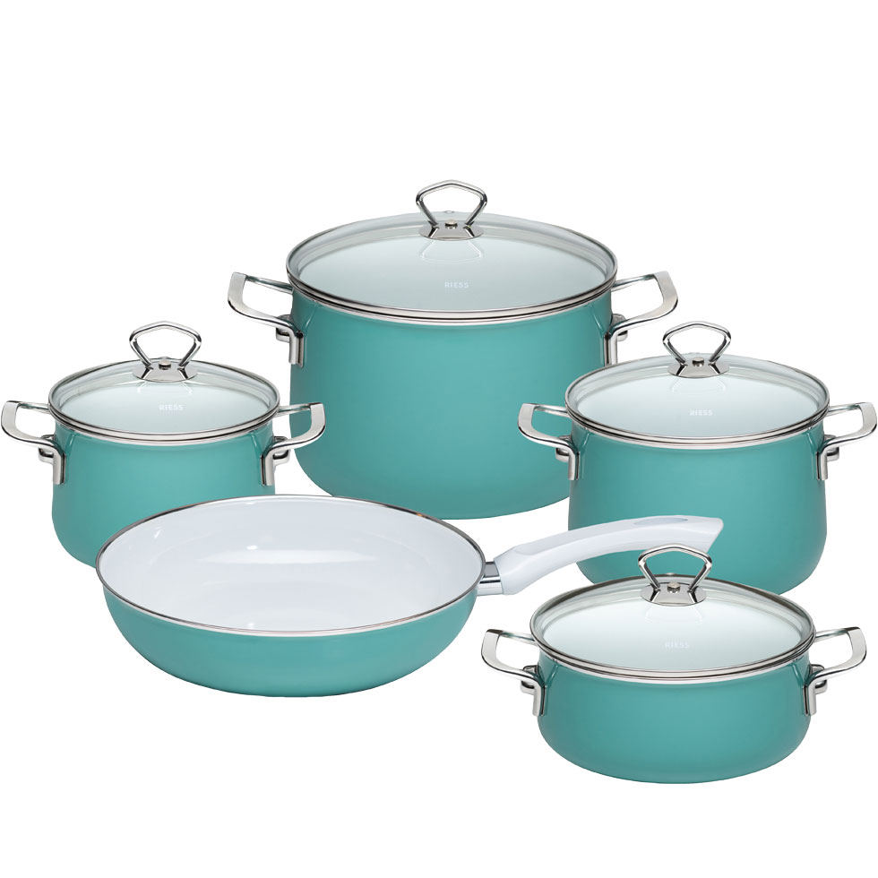 5-part cookware-set- Nouvelle-Nature Green