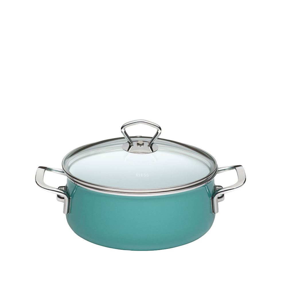 Casserole with glass lid 16  1.00 l – Nouvelle – Nature Green