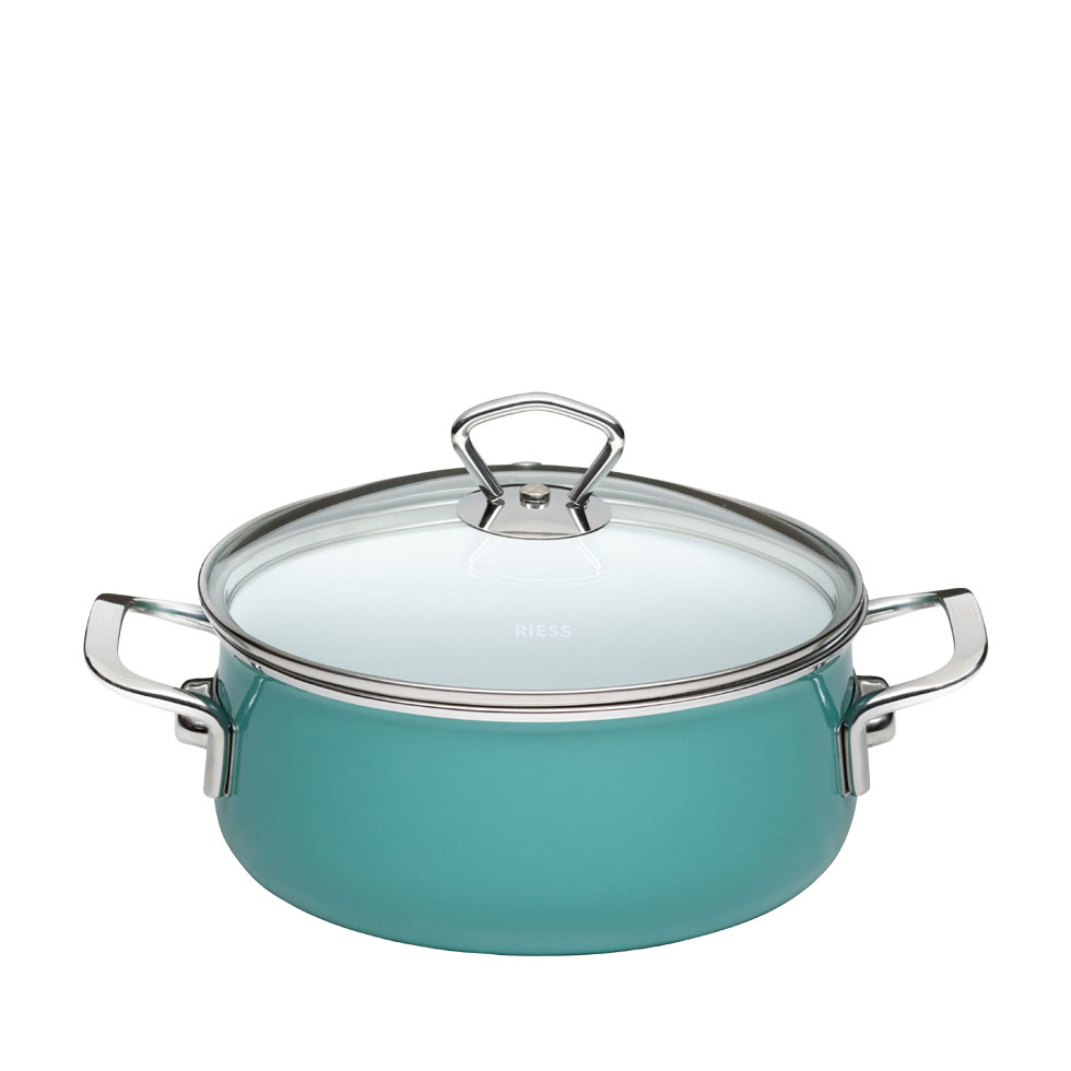Casserole with glass lid  20  2.00 l – Nouvelle-Nature Green