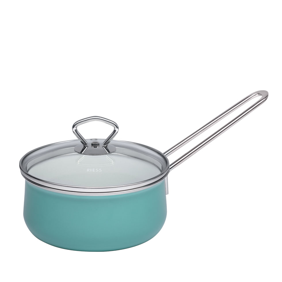 Saucepan with glass lid  16  1.00 l – Nouvelle – Nature Green